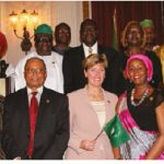 At the Africa Day celebration, heads of mission also marked the 55th anniversary of African Unity. Ambassadors and high commissioners were joined in a group photo by MPs and International Development Minister Marie-Claude Bibeau (centre), who represented the government of Canada. (Photo: Ülle Baum)