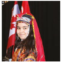 The embassy of Turkey marked International Children's Day at the Horticulture Building at Lansdowne Park. Shown here is a member of an Ottawa Turkish School's dance group in the traditional costume of the Eastern Anatolian region. (Photo: Ülle Baum)