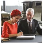Belgian King Philippe and Queen Mathilde were in Canada for a state visit to Ottawa, Toronto and Montreal. They signed the guest book at the National War Museum. (Photo: Ülle Baum)