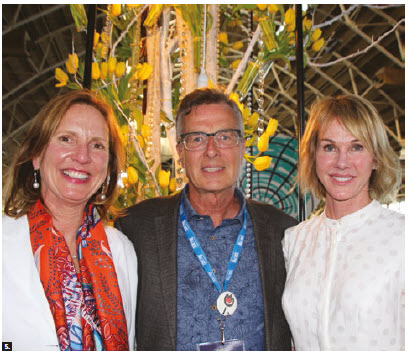 More than 40 embassies participated in this year's tulip festival. From left, Jackie Bradley, visiting from Virginia; Henry Storgaard, chairman of the Canadian Tulip Festival; and U.S. Ambassador Kelly Craft. (Photo: Ülle Baum)