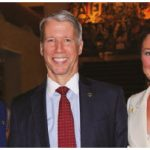 French Ambassador Kareen Rispal hosted a dinner in support of Women Deliver. The event, which raised $14,250, included a five-course meal. From left: Rispal, MP Andrew Leslie and Sophie Grégoire Trudeau, wife of Prime Minister Justin Trudeau. (Photo: Ülle Baum)