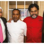 From left, Indian High Commissioner Vikas Swarup offered his residence to Michelin-star chef Peter Joseph, of London's Tamarind Mayfair, and chef Joe Thottungal, of Ottawa's Coconut Lagoon, for a culinary celebration of Commonwealth links. They're shown with Bardish Chagger, minister of small business and tourism. (Photo: Suliman Chadirji)