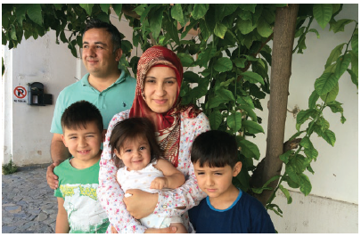 New horizons:  Bekir Bey was a chemistry teacher in Turkey. He and his family fled after authorities questioned his wife, Beytül, when she was in hospital delivering their youngest. As soon as she was able to travel, the family fled to avoid jail for both parents. (Photo: Jennifer Campbell)