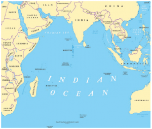 As more Chinese navy warships complete patrols in the far seas, it may not be long before one of the country's new aircraft carriers crosses the Indian Ocean (shown on the map above) and anchors in the harbour of Djibouti. (Photo: © Peter Hermes Furian | Dreamstime.com)
