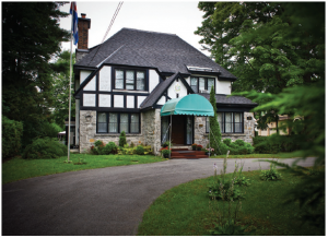 The 1940s Tudor Revival-style residence of the Cuban ambassador sits on Rockcliffe Park's leafy Acacia Avenue and was built in the 1940s. (Photo: Ashley Fraser)