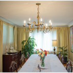 After a small renovation, the dining room now has room for 14 dinner guests. (Photo: Ashley Fraser)