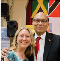 The Indo-Caribbean Organization of Ottawa held its annual Indo-Caribbean Cultural Show at St. Joseph's Parish Hall. Shown are Trinidad and Tobago High Commissioner Garth Chatoor and MP Mona Fortier. (Photo: Yasmin Asgarali)