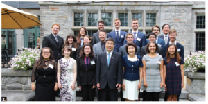 Japanese Ambassador Kimihiro Ishikane and his wife, Kaoru, hosted a reception at the ambassador's residence in Rockcliffe for this year's departing JET Program participants. The diplomatic couple is shown in the middle, surrounded by JET participants. (Photo: Ülle Baum)