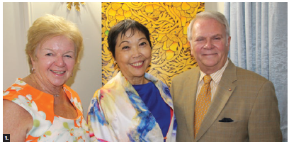 Philippine Ambassador Petronila P. Garcia hosted a fundraising concert and dinner for 20 at her residence in support of the Friends of National Arts Centre Orchestra (FNACO). From left: Suzanne Gumpert, first vice-president of FNACO; Garcia; and Albert Benoit, president of FNACO. (Photo: Ülle Baum)