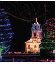 Upper Canada Village boasts cheery Christmas lights from late November to early January. (Photo: Upper canada village)