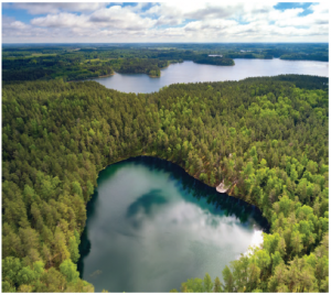 """Latgale is called """"the land of blue lakes."""" The country's largest lake, as well as its deepest, are both in this region. (Photo:  VALDIS SKUDRE)"""