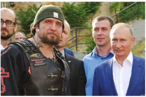 In Slovakia, Russian biker groups such as the Night Wolves, pictured here with Russian President Vladimir Putin, have been called a threat to security. (Photo: Aleksei Druzhinin Kremlin)