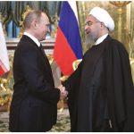 "Russia President Vladimir Putin, shown here with Iranian President Hassan Rouhani, has been expanding Russia's economic ties to Iran, among other ""outlaw"" states. (Photo: Kremlin.ru)"