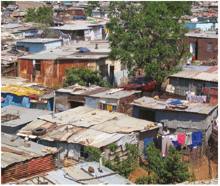 The most unequal country in the world — South Africa — is its continent's most industrialized and the sole African member of the G20. Shown here is a shanty town in Soweto. (Photo: Matt-80)