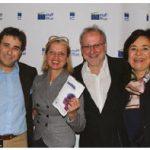 The EU Film Festival launched with a screening of Austrian film Mademoiselle Paradis. From left, Austrian Ambassador Stefan Pehringer; Inara Eihenbauma, wife of the Latvian ambassador; Canadian Film Institute executive director Tom McSorley; and Piret Lukk, wife of the Estonian Ambassador. (Photo: Ülle Baum)