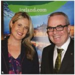 Tourism Ireland hosted a special event at the Canadian Museum of Nature to showcase Ireland's heritage, culture and cuisine. From left: Dana Welch, marketing manager and Jim Kelly, ambassador of Ireland. (Photo: Ülle Baum)