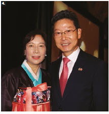 On the occasion of the Korean national day and armed forces day, Ambassador Maengho Shin and his wife, Dongmin Lee, hosted a reception at the Fairmont Château Laurier. (Photo: Ülle Baum)