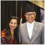 Nepalese Ambassador Kali Prasad Pokhrel and his wife, Kamal, hosted a national day reception at Ottawa City Hall. (Photo: Ülle Baum)
