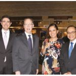 A photo exhibition by the MIKTA countries (Mexico, Indonesia, Korea, Turkey and Australia) took place at Ottawa City Hall. From left, Chilean Ambassador Alejandro Marisio; Mexican Ambassador Dionisio Pérez Jácome; Ian Shugart, deputy minister at Global Affairs; Lerzan Unal, wife of Turkish Ambassador, Selcuk Unal; Indonesian Ambassador Teuku Faizasyah and Korean Ambassador Maengho Shin. (Photo: Ülle Baum)