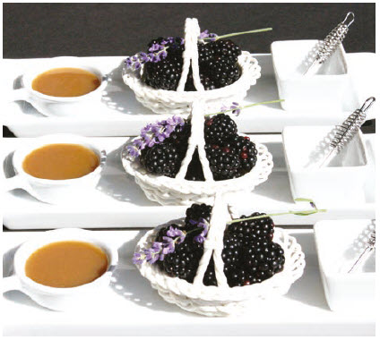 Blackberry Butterscotch Fondue is a hit, even with people who aren't fond of dessert. (Photo: Larry Dickenson)