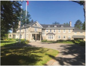 The mansion, occupied by Italian Ambassador Claudio Taffuri and his wife, Maria Enrica Francesca Stajano, is just across the Champlain Bridge in Gatineau. The residence is majestically perched on a hill overlooking the Ottawa River.  (Photo: Claudio Taffuri)