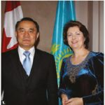 To mark Kazakhstan's independence day, Ambassador Akylbek Kamaldinov and his wife, Olga Kamaldinova, hosted a reception at the Fairmont Château Laurier. (Photo: Ülle Baum)