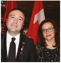 To mark the 106th anniversary of Albanian independence, Ambassador Ermal Muça and his wife, Alma, hosted a reception at the Fairmont Château Laurier. (Photo: Ülle Baum)