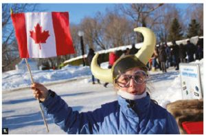 The embassies of Norway, Austria, Mongolia, Finland, Czech Republic, Denmark, Iceland, Netherlands, Switzerland, Sweden, Slovenia, Turkey and the Delegation of the EU took part in the winter celebration at Rideau Hall. This woman was at the Norwegian tent. (Photo: Ülle Baum)