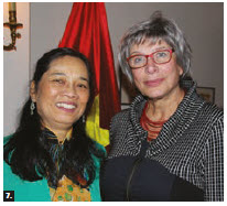 Vietnamese Ambassador Nguyen Duc Hoa and his wife, Tran Nguyen Anh Thu, hosted a dinner at Vietnam House. From left: Tran stands with Cecile Latour, former Canadian ambassador of Vietnam (1999 to 2002). (Photo: Ülle Baum)