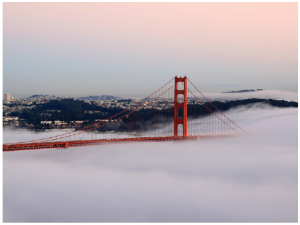 The second most popular tourist destination in the U.S. is San Francisco, where tourists most often visit the Golden Gate Bridge. (Photo: Brocken Inaglory)