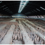 Perhaps the most intriguing attraction in China is the Museum of Qin Terracotta Warriors and Horses, 45 kilometres east of Xi'an. (Photo: Jmhullot)