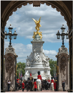 The U.K. drew 37.7 million tourists in 2017 and Buckingham Palace, shown here from the inside, is one of the big draws. (Photo: Sgt. Rupert Frere (Royal Logistic Corps))
