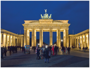 Tourists from all over the world visit Germany and 37.5 million took it in in 2017. Shown here is Berlin's Brandenburg Gate, which was built in 1791 and became symbolic of a divided Germany when it was closed off by the erection of the Berlin Wall.  (Photo: Pedelecs)