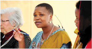 Purity Ngina, centre, speaks at the African Women Diplomatic Forum's seminar that celebrated African and Canadian women in science, technology, engineering and mathematics. (Photo: Ülle Baum)
