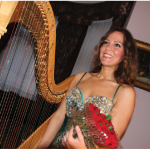 Hungarian Ambassador Bálint Ódor hosted a concert at the embassy featuring harpist Klára Bábel, who is shown here. (Photo: Ülle Baum)