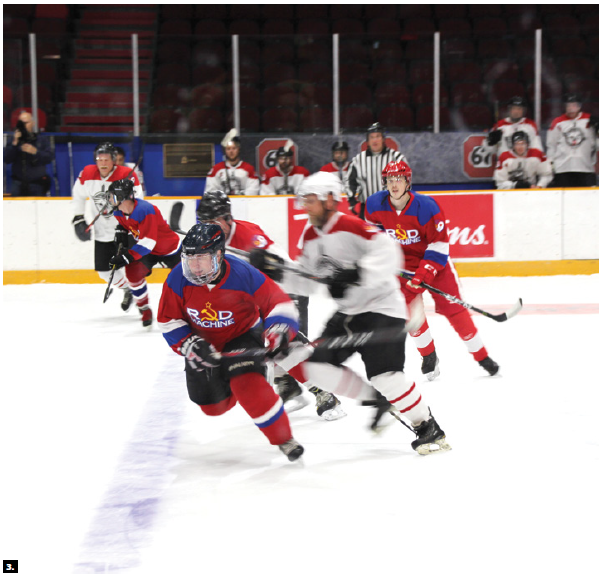 A friendly hockey match between Canada's Commandos and Russia's Red Machine took place at TD Place Stadium. The game and the reception were hosted by the Russian Embassy (Score Russia 1, Canada 0). (Photo: Ülle Baum)