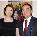 Kazakh Ambassador Akylbek Kamaldinov and his wife, Olga Kamaldinova, hosted a dinner at their residence for members of the media. (Photo: Ülle Baum)