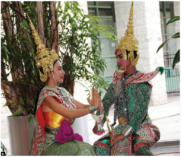 The Council of Thai culture of Canada hosted a Thai New Year Celebration at Ottawa City Hall. These dancers in traditional costumes performed. (Photo: Ülle Baum)