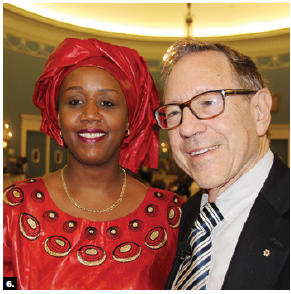 To commemorate the 25th anniverary of the Rwandan genocide, acting high commissioner Shakilla Umutoni Kazimbaya hosted a conference. She's shown with former justice minister Irwin Cotler. (Photo: Ülle Baum)