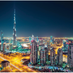 Dubai is the UAE's financial centre and its most cosmopolitan and luxurious city. It boasts the world's tallest building, seen here, as well as such novelties as a shopping mall that features a ski hill. (Photo: Embassy of UAE)