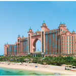 Beaches, such as this one at the luxury hotel resort, Atlantis The Palm in Dubai, are prominent features of the cities of Dubai and Abu Dhabi. (Photo: © Iryna Rasko - Dreamstime.com)