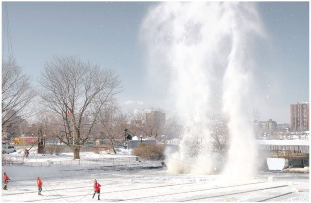 Ice Blasting on the Rideau River, by Blazej Marczak, is among the 2019 acquisitions by the City of Ottawa and showing at Karsh-Masson Gallery. (Photo: Ice Blasting on the Rideau River, by Blazej Marczak, is among the 2019 acquisitions by the City of Ottawa and showing at Karsh-Masson Gallery. )