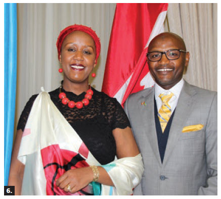 To mark the 25th anniversary of the Liberation of Rwanda, chargé d'affaires Shakilla K. Umutoni and her husband, Janvier I. Rurangwa, hosted a reception at the Fairmont Château Laurier hotel. (Photo: Ülle Baum)