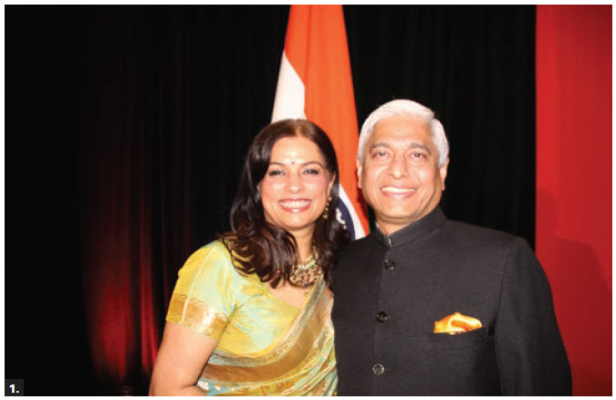 To celebrate the 72nd Anniversary of India's independence, High Commissioner Vikas Swarup and his wife, Aparna, hosted a dinner reception at the Delta Hotel. (Photo: Ülle Baum)
