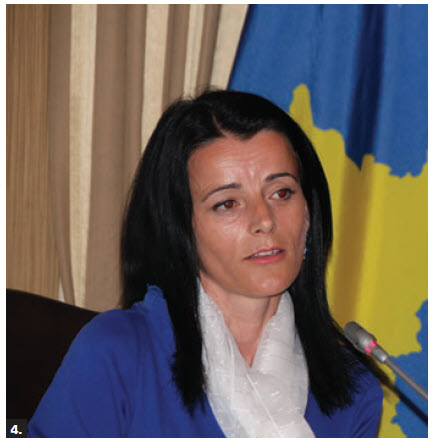 A conference on the 20th Anniversary of NATO's military engagement in Kosovo took place at the Rideau Club. Vasfije Krasniqi-Goodman, a Kosovo-born war survivor and activist, spoke. (Photo: Ülle Baum)