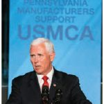 U.S. Vice-President Mike Pence speaks at a pro-NAFTA 2.0 event in Pennsylvania. (Photo: White house)