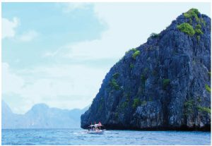 Bacuit Bay's majestic 250-million-year-old limestone cliffs are one of its major tourist attractions. The Bay, which is located on the northern tip of Palawan Island, features 45 islands, islets, coves and lagoons. It is part of the 7,000-plus archipelagos in the Philippines. (Photo: Ülle Baum)
