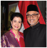 On the occasion of the 74th anniversary of the independence of Indonesia, Ambassador Abdul Kadir Jailani and his wife, Rahmayanti Jailani, hosted a cultural performance and reception at the Grand Hall of the Canadian Museum of History. Ambassador Jailiani spoke. (Photo: Ülle Baum)