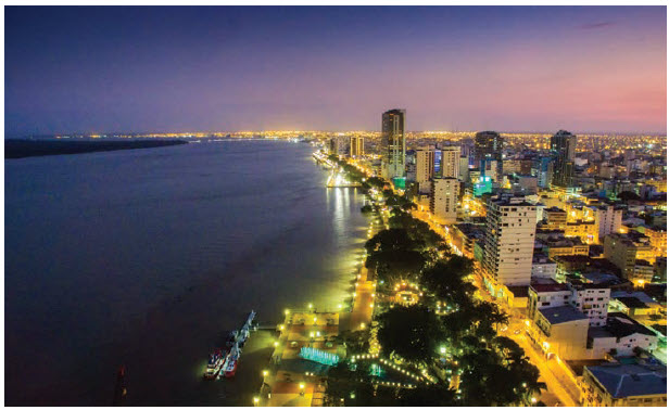 Guayaquil, the main port and economic capital of the country, is located on the Pacific Coast. (Photo: Ecuador tourism)
