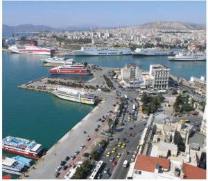 Chinese shipping giant, COSCO, has taken the controlling share of the Greek port of Piraeus, above. In the past decade, Chinese companies have acquired controlling shares in 13 European ports. (Photo: Nikolaos Diakidis)